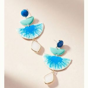 Blue drop earrings-NEW from Anthropologie!